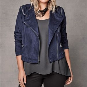 Torrid faux suede cropped jacket